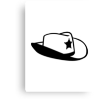 Sheriff hat Canvas Print