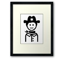 Sheriff uniform Framed Print