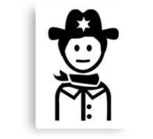 Sheriff uniform Canvas Print