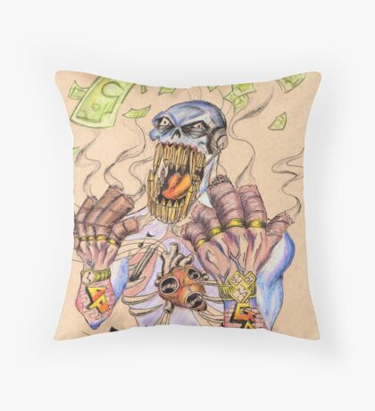 """The Game"" Throw Pillow"