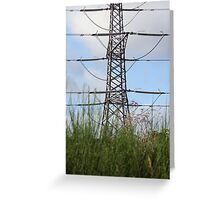 Pylon on the march Greeting Card