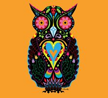 Day of the Dead Owl Womens Fitted T-Shirt