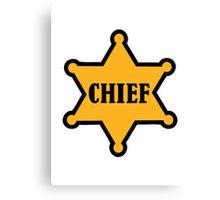 Chief sheriff star Canvas Print