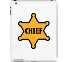 Chief sheriff star iPad Case/Skin