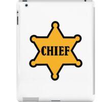 Chief sheriff star iPad Case/Skin