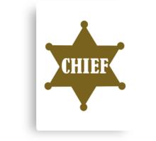 Golden chief star Canvas Print