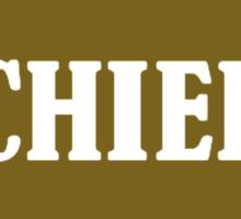 Golden chief star Sticker