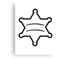Sheriff star Canvas Print