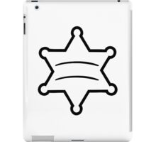 Sheriff star iPad Case/Skin