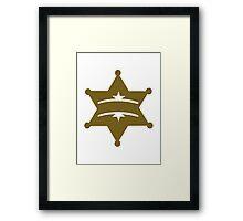 Sheriff star Framed Print