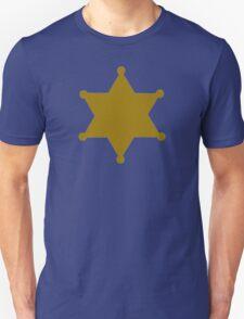 Golden sheriff star Unisex T-Shirt