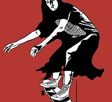 A Girl Skateboards Home Alone by DavidtDunlop