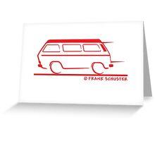 Speedy VW Vanagon Westfalia Westy Greeting Card