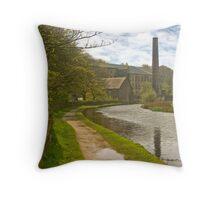 Huddersfield Narrow Canal Throw Pillow