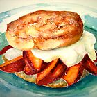 Delicious...Ginger Shortcake with Nectarines and Creme Fraiche by ©Janis Zroback