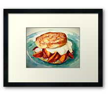 Delicious...Ginger Shortcake with Nectarines and Creme Fraiche Framed Print