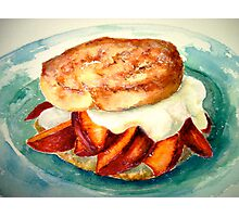 Delicious...Ginger Shortcake with Nectarines and Creme Fraiche Photographic Print