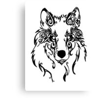 Beautiful Alpha Tribal Wolf Canvas Print