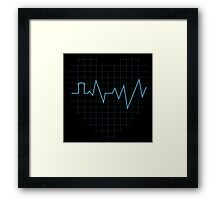Whovian Heartbeat Framed Print