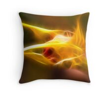 Fractal orchid Throw Pillow