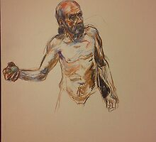 man holding ball by pigletface
