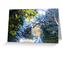 English Country dreams of snow. Greeting Card