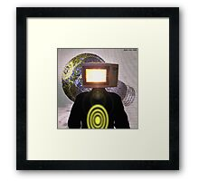 Planet Magnetron (çΩç) Born Of Microwaving Framed Print