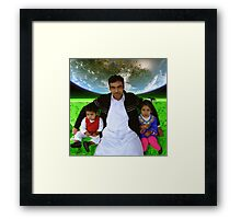 Great Father Idrees & The Future Generations of the Pakistani Starfleet Framed Print