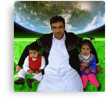 Great Father Idrees & The Future Generations of the Pakistani Starfleet Canvas Print