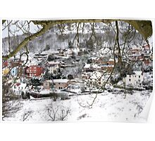 West Malvern in the Snow Poster