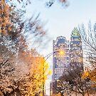 charlotte skyline in spring by Alexandr Grichenko