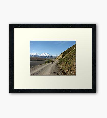 Mountain Biking Near Denali Framed Print