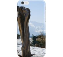 Sculpture and Tyrolean church in the background iPhone Case/Skin