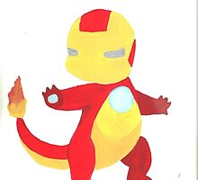 Iron Man Charmander! by Katie Lou