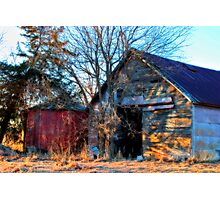 Old Barns Never Die Photographic Print
