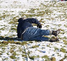 Falling Off a Sledge by Jonathan Dower