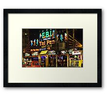 Downtown Patong Framed Print