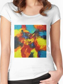 """Audacity No.3"" original artwork by Laura Tozer Women's Fitted Scoop T-Shirt"