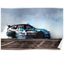 Subaru Rally USA's David Higgins Drifting Poster