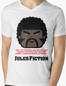 JULES FICTION V1 Mens V-Neck T-Shirt
