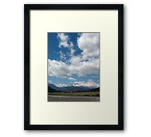 Weight of the clouds! Framed Print