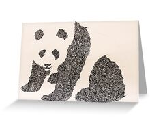 Simply Panda Greeting Card