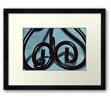 Difference Scrolls Framed Print