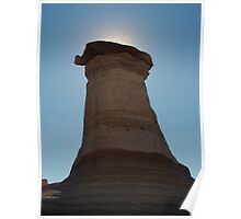 large hoodoo rock formation Poster