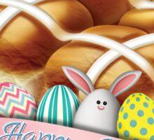 Hot Cross Buns Easter Sticker