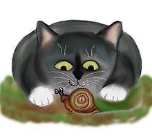 Snail and Kitten by NineLivesStudio