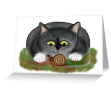 Snail and Kitten Greeting Card