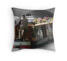 Messing around on the river Throw Pillow