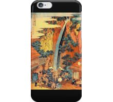 'Waterfalls In All Provinces 2' by Katsushika Hokusai (Reproduction) iPhone Case/Skin
