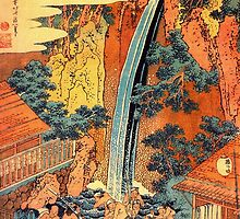 'Waterfalls In All Provinces 2' by Katsushika Hokusai (Reproduction) by Roz Abellera Art Gallery
